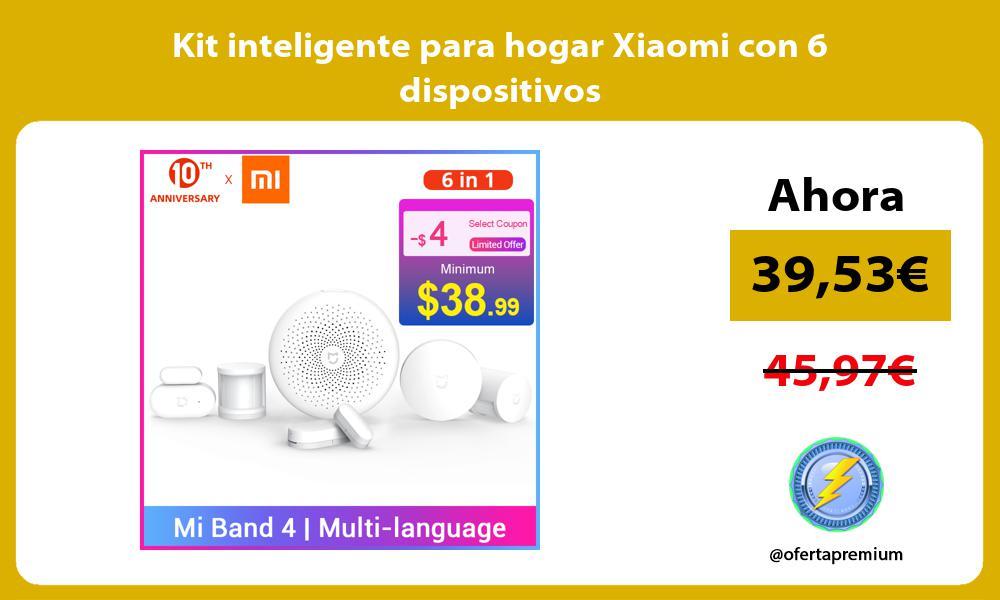 Kit inteligente para hogar Xiaomi con 6 dispositivos