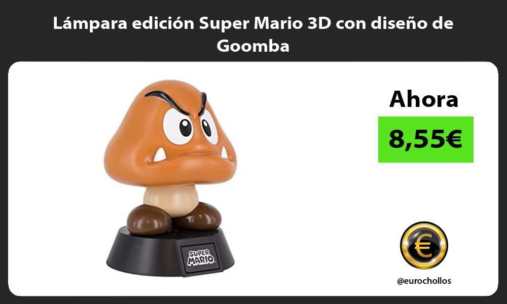 Lámpara edición Super Mario 3D con diseño de Goomba