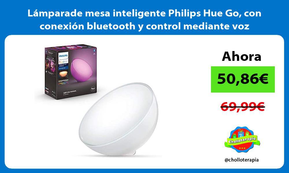 Lámparade mesa inteligente Philips Hue Go con conexión bluetooth y control mediante voz