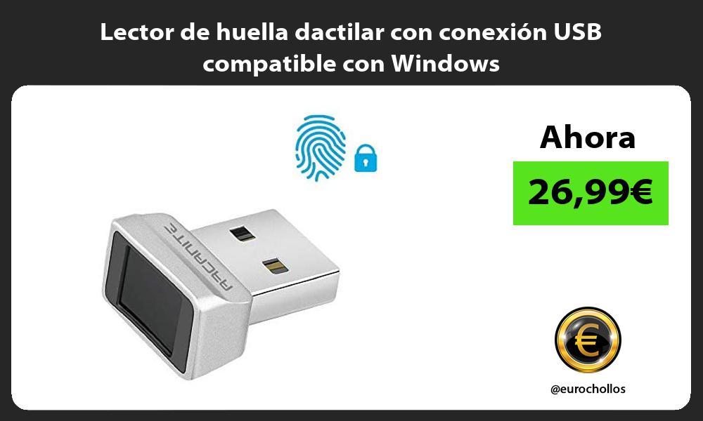 Lector de huella dactilar con conexión USB compatible con Windows