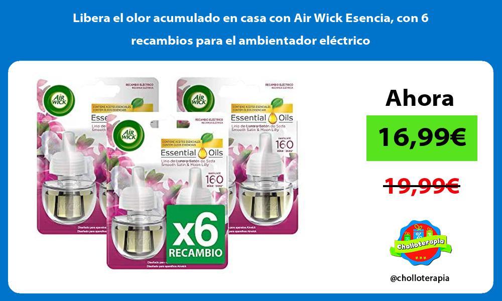 Libera el olor acumulado en casa con Air Wick Esencia con 6 recambios para el ambientador eléctrico