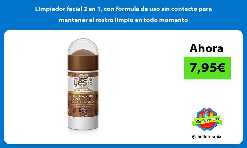 Limpiador facial 2 en 1 con fórmula de uso sin contacto para mantener el rostro limpio en todo momento