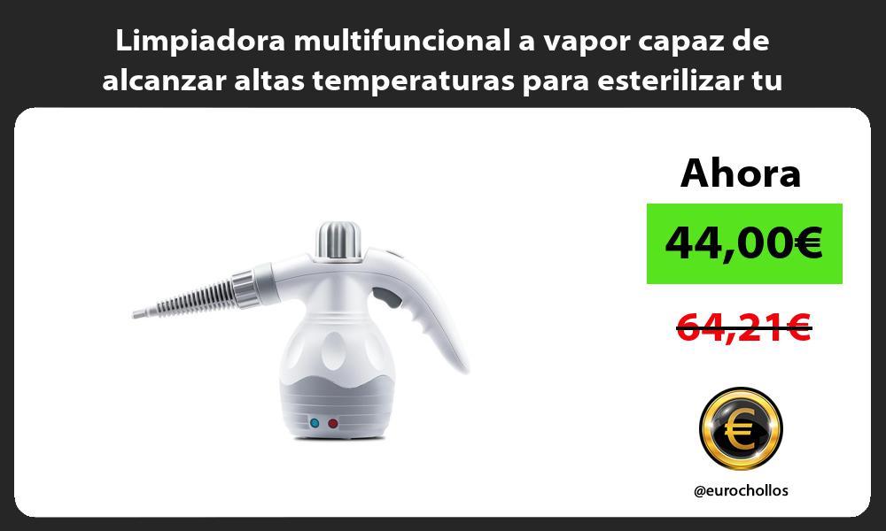 Limpiadora multifuncional a vapor capaz de alcanzar altas temperaturas para esterilizar tu hogar