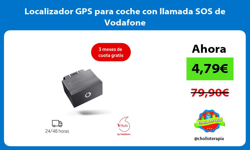 Localizador GPS para coche con llamada SOS de Vodafone