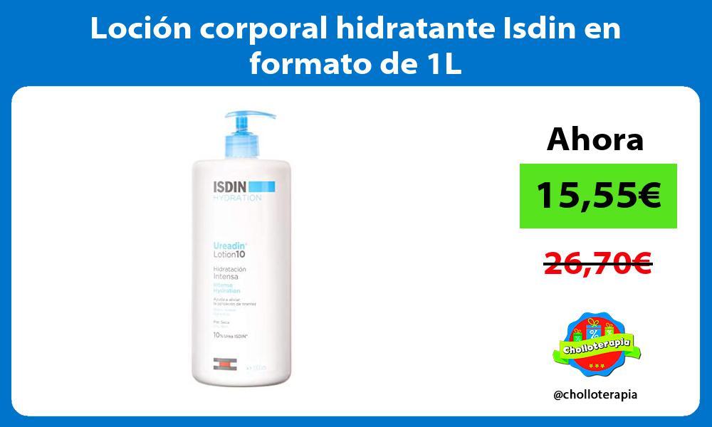 Loción corporal hidratante Isdin en formato de 1L