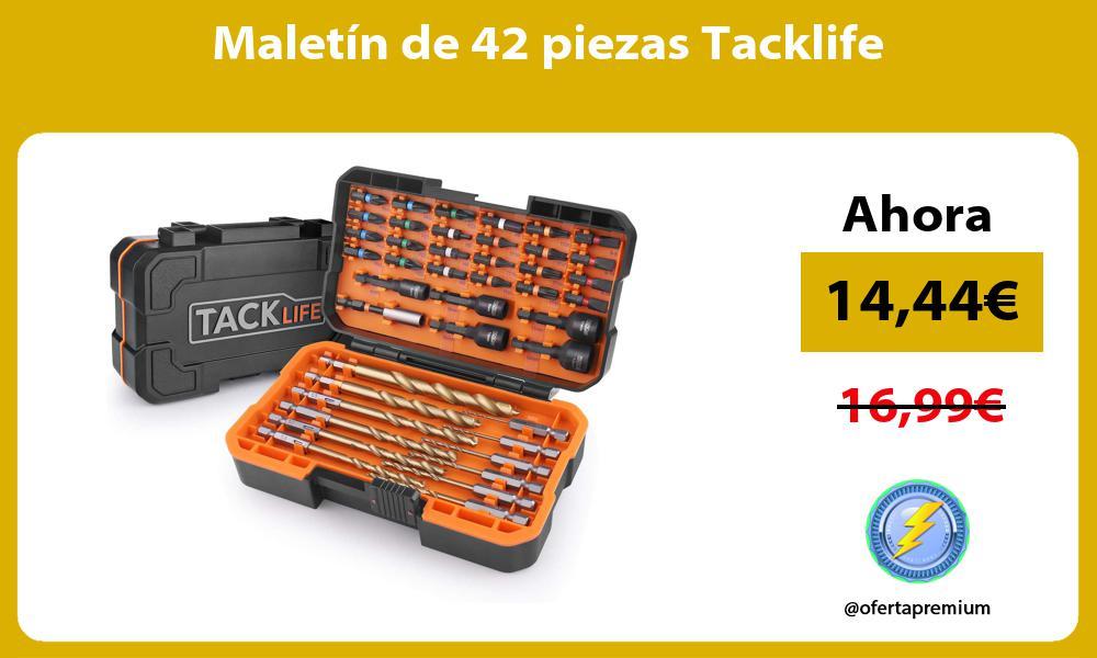 Maletín de 42 piezas Tacklife