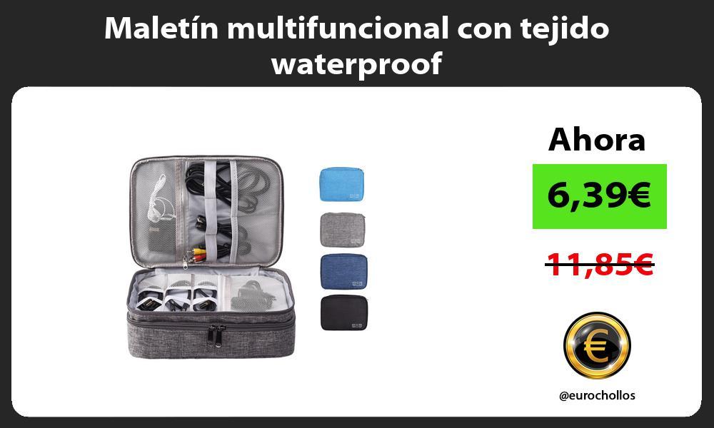 Maletín multifuncional con tejido waterproof