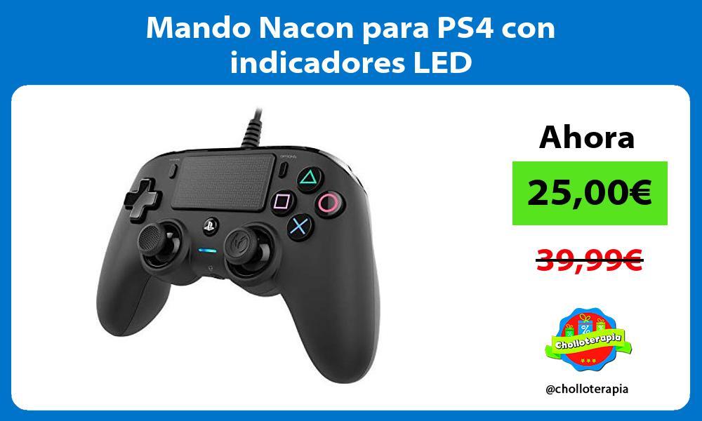 Mando Nacon para PS4 con indicadores LED