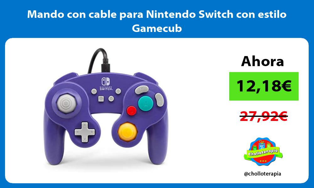 Mando con cable para Nintendo Switch con estilo Gamecub