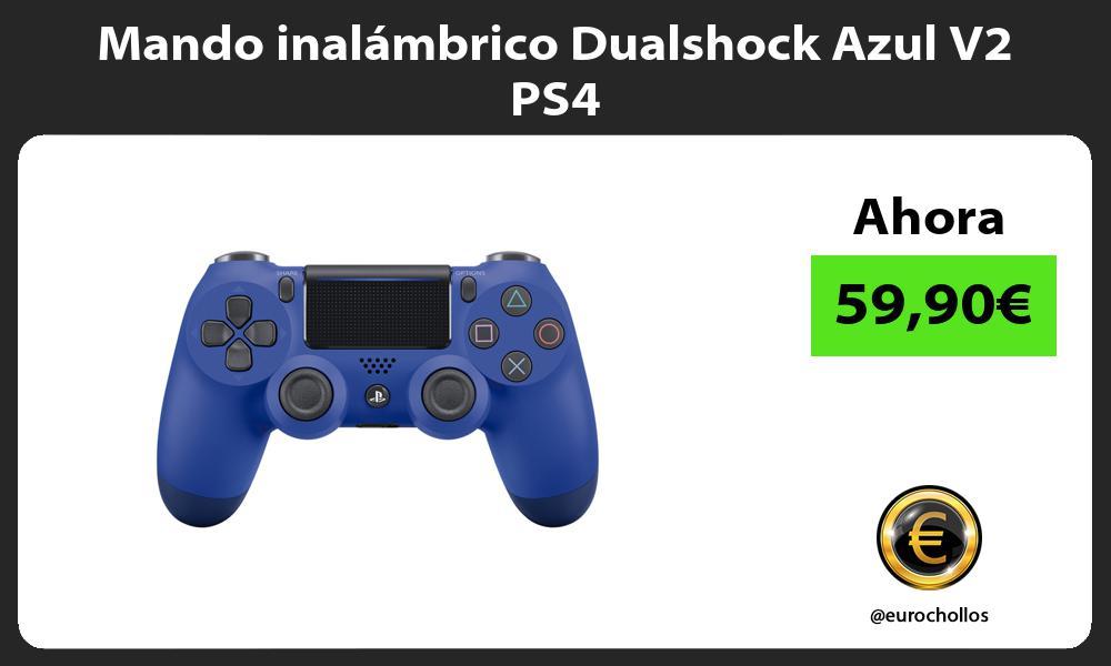 Mando inalámbrico Dualshock Azul V2 PS4