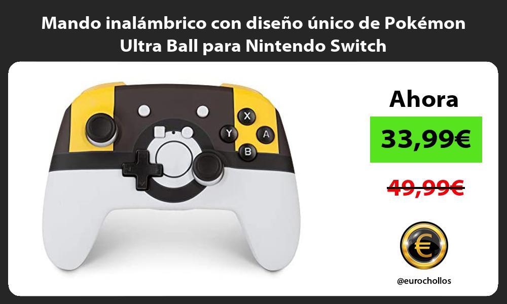 Mando inalámbrico con diseño único de Pokémon Ultra Ball para Nintendo Switch