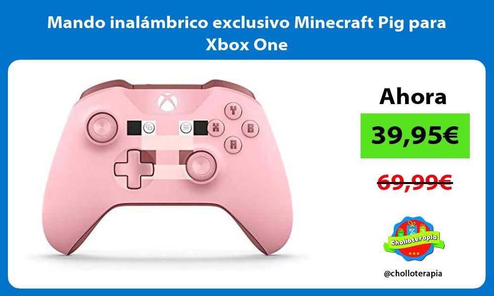 Mando inalámbrico exclusivo Minecraft Pig para Xbox One