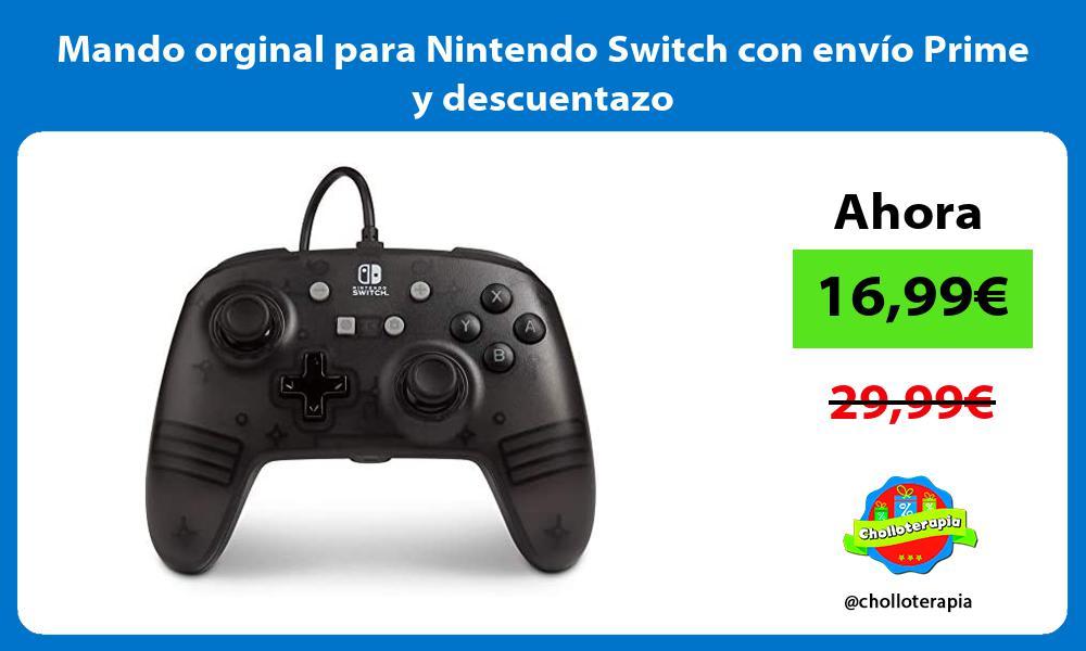 Mando orginal para Nintendo Switch con envío Prime y descuentazo