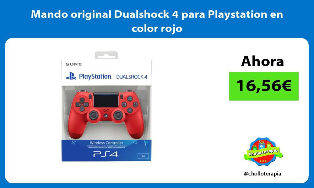 Mando original Dualshock 4 para Playstation en color rojo