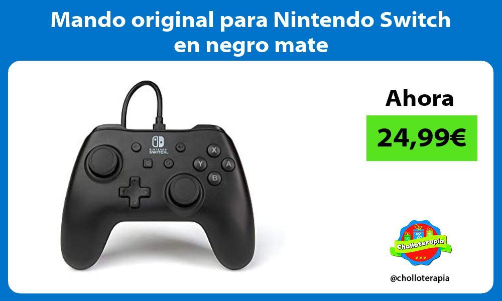 Mando original para Nintendo Switch en negro mate