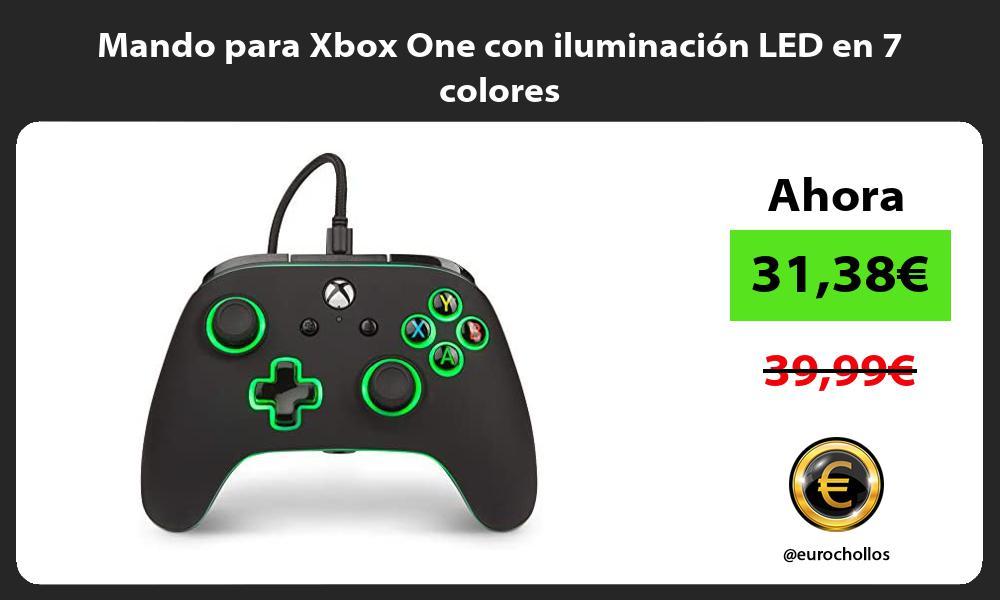Mando para Xbox One con iluminación LED en 7 colores