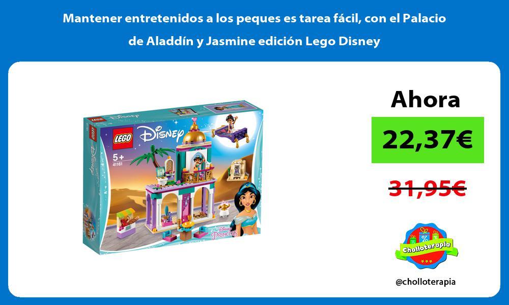 Mantener entretenidos a los peques es tarea fácil con el Palacio de Aladdín y Jasmine edición Lego Disney
