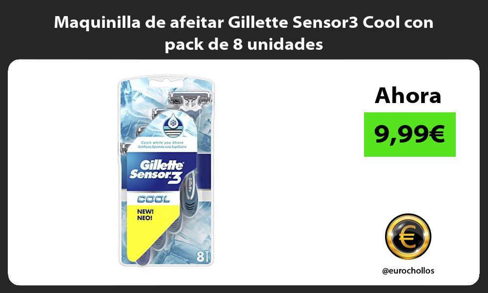 Maquinilla de afeitar Gillette Sensor3 Cool con pack de 8 unidades