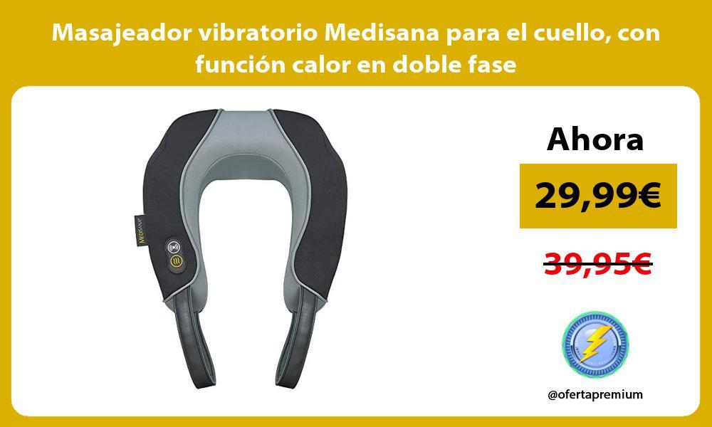 Masajeador vibratorio Medisana para el cuello con función calor en doble fase