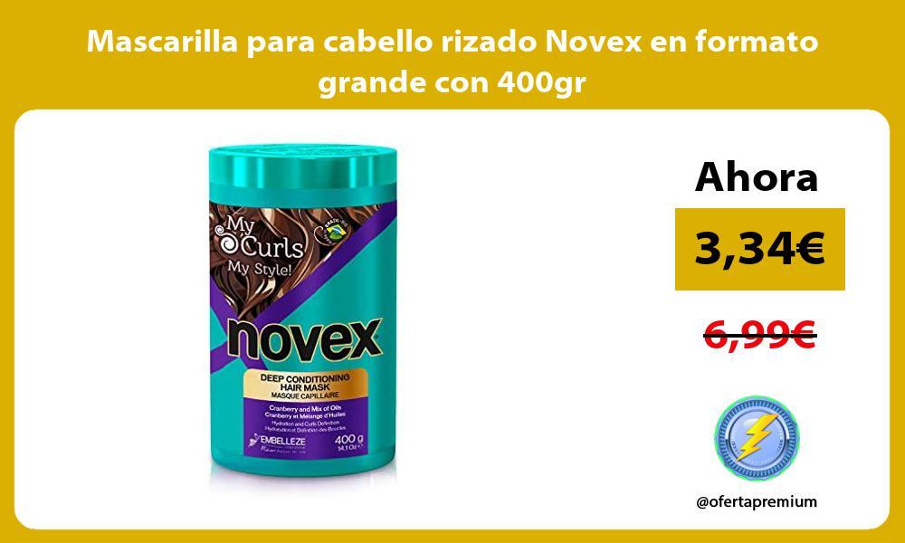 Mascarilla para cabello rizado Novex en formato grande con 400gr