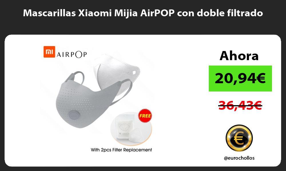 Mascarillas Xiaomi Mijia AirPOP con doble filtrado