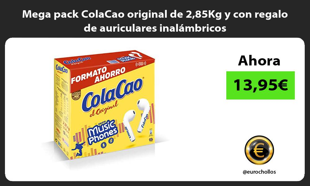 Mega pack ColaCao original de 285Kg y con regalo de auriculares inalámbricos