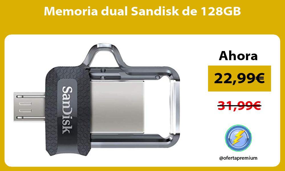 Memoria dual Sandisk de 128GB