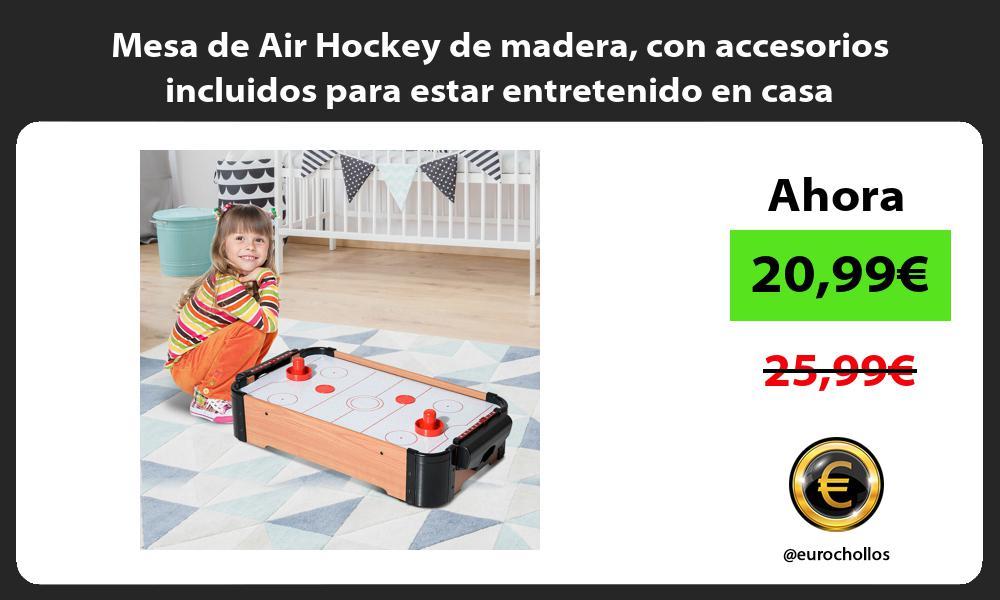 Mesa de Air Hockey de madera con accesorios incluidos para estar entretenido en casa
