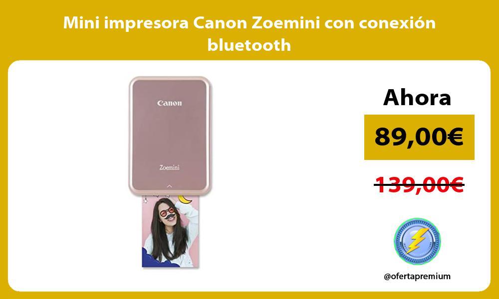 Mini impresora Canon Zoemini con conexión bluetooth