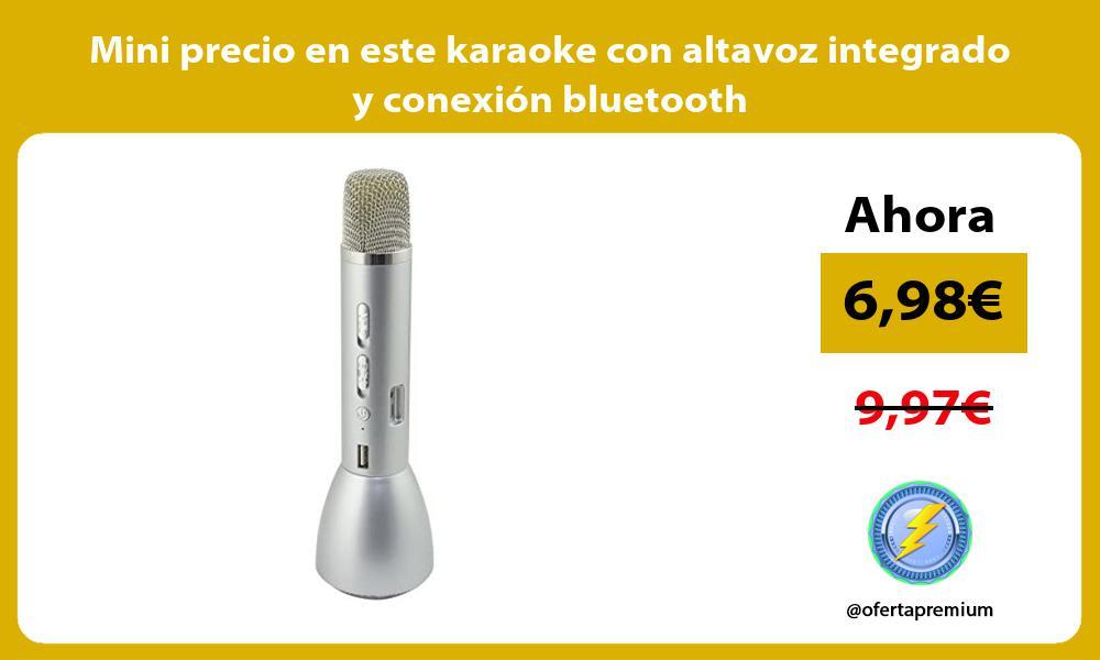 Mini precio en este micrófono karaoke con altavoz integrado y conexión bluetooth