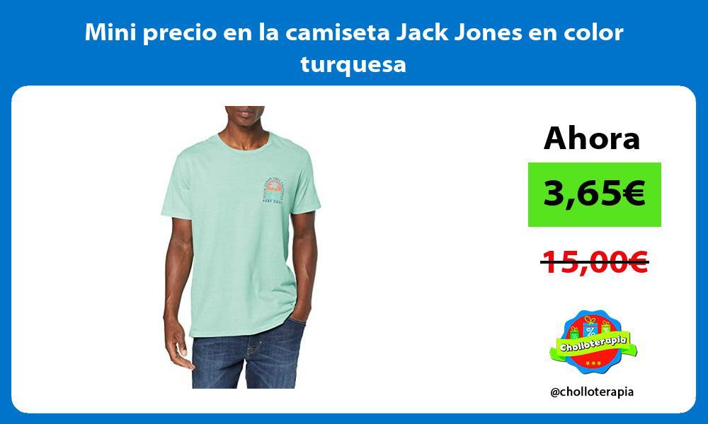 Mini precio en la camiseta Jack Jones en color turquesa