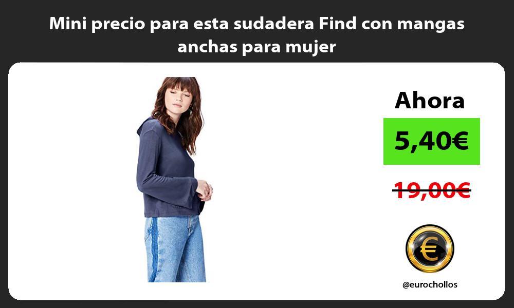 Mini precio para esta sudadera Find con mangas anchas para mujer