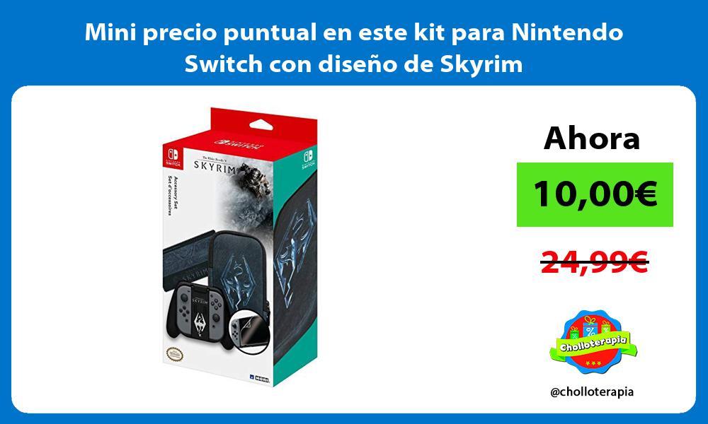 Mini precio puntual en este kit para Nintendo Switch con diseño de Skyrim