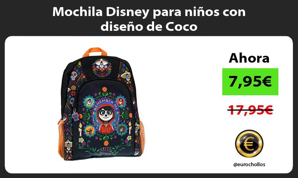 Mochila Disney para niños con diseño de Coco