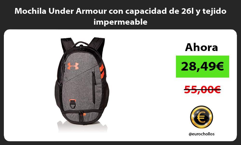 Mochila Under Armour con capacidad de 26l y tejido impermeable