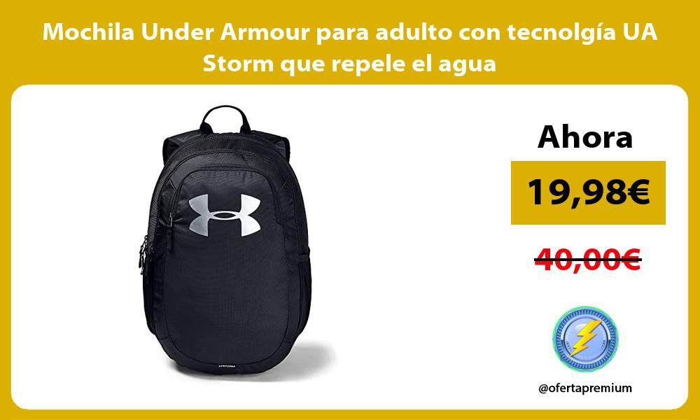 Mochila Under Armour para adulto con tecnolgía UA Storm que repele el agua