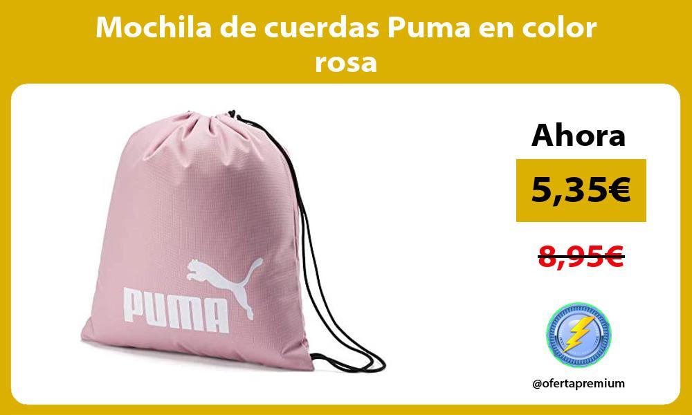 Mochila de cuerdas Puma en color rosa