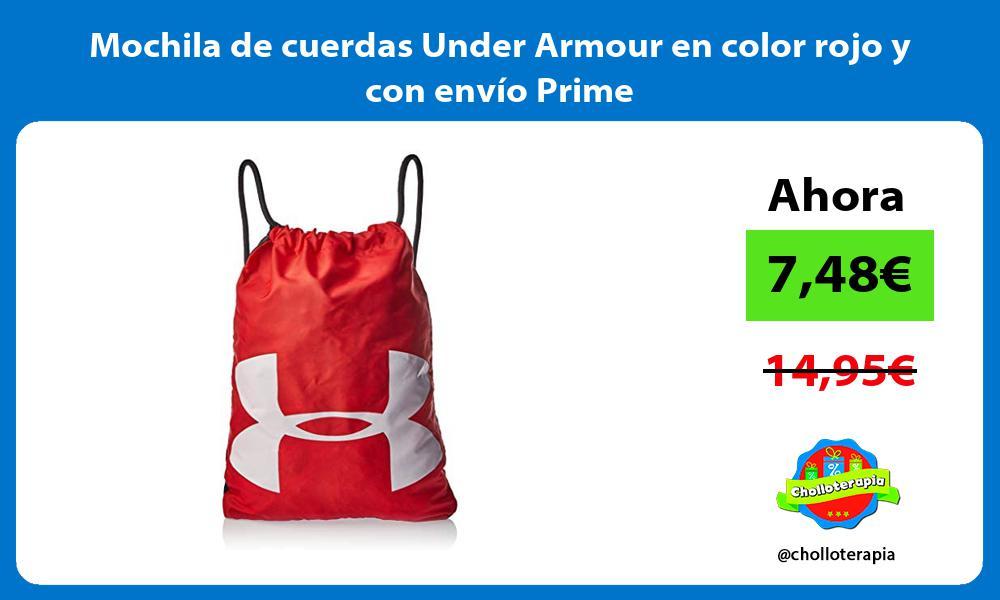 Mochila de cuerdas Under Armour en color rojo y con envío Prime