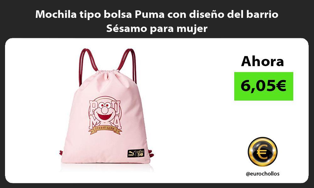Mochila tipo bolsa Puma con diseño del barrio Sésamo para mujer