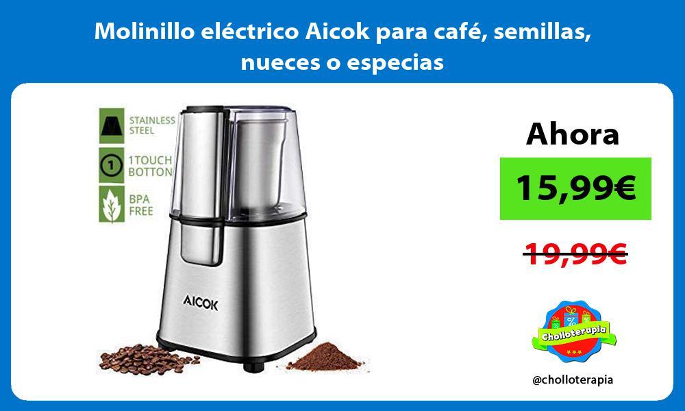 Molinillo eléctrico Aicok para café semillas nueces o especias