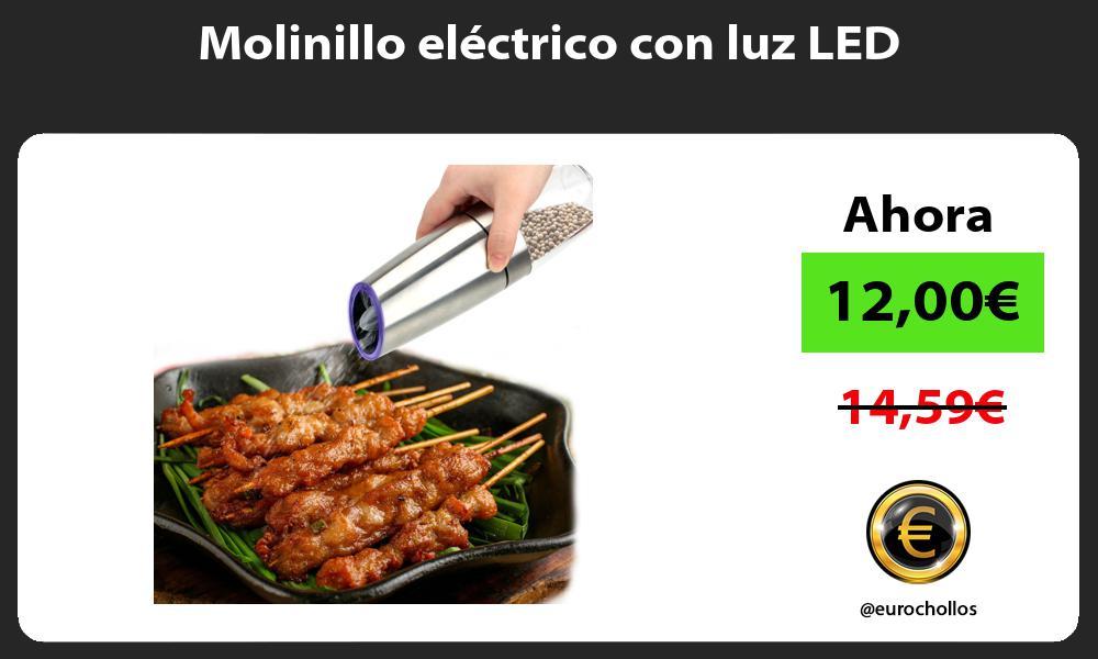 Molinillo eléctrico con luz LED