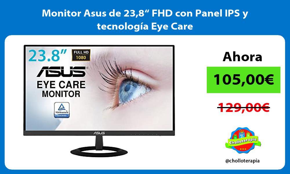 """Monitor Asus de 238"""" FHD con Panel IPS y tecnología Eye Care"""