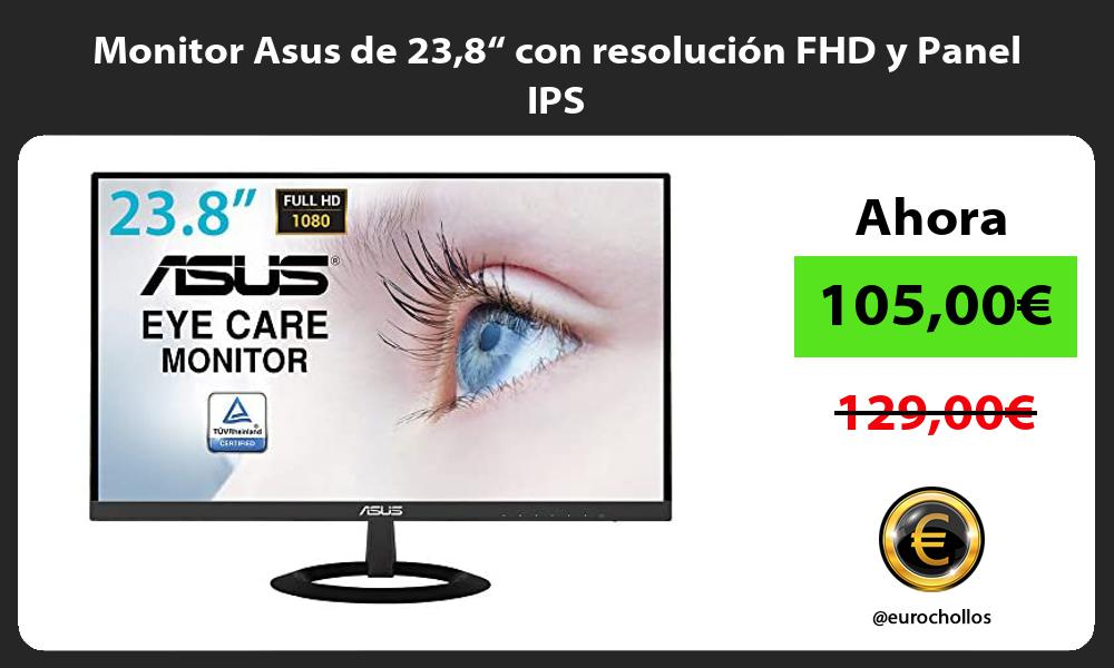 "Monitor Asus de 238"" con resolución FHD y Panel IPS"