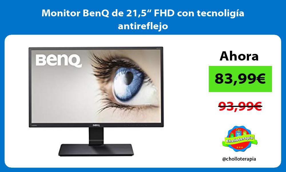 """Monitor BenQ de 215"""" FHD con tecnoligía antireflejo"""