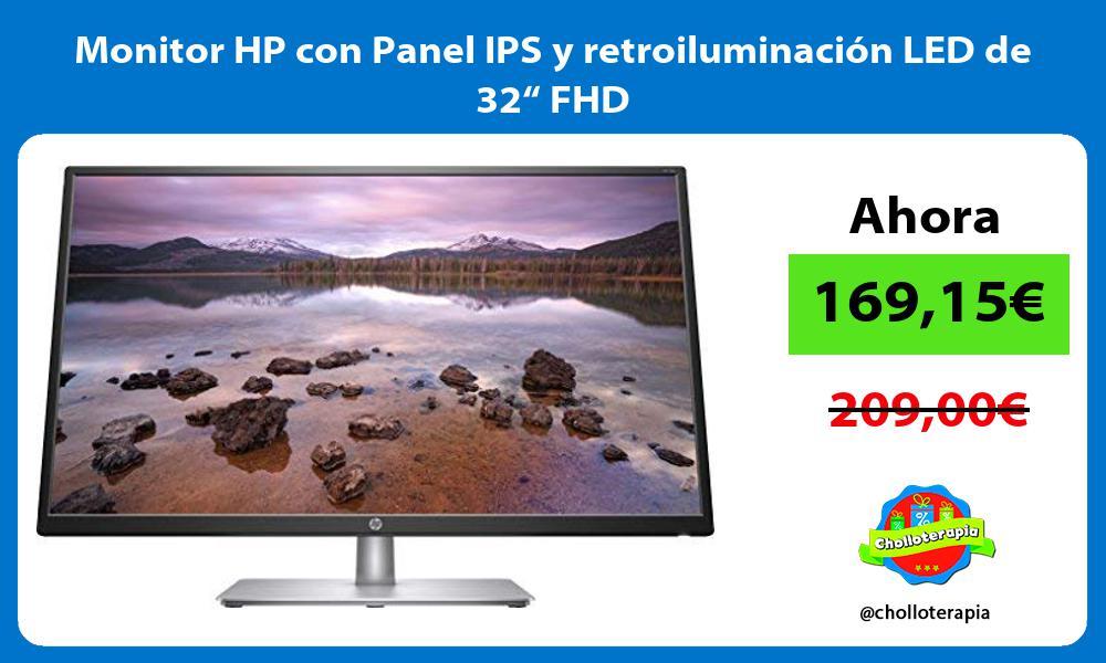 "Monitor HP con Panel IPS y retroiluminación LED de 32"" FHD"