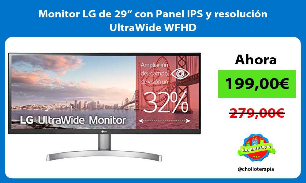 """Monitor LG de 29"""" con Panel IPS y resolución UltraWide WFHD"""