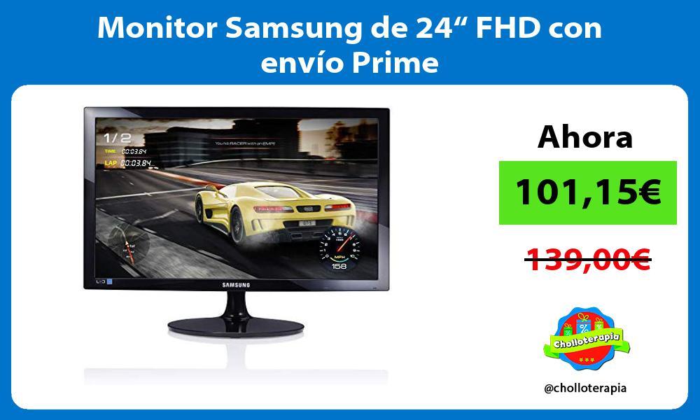 """Monitor Samsung de 24"""" FHD con envío Prime"""