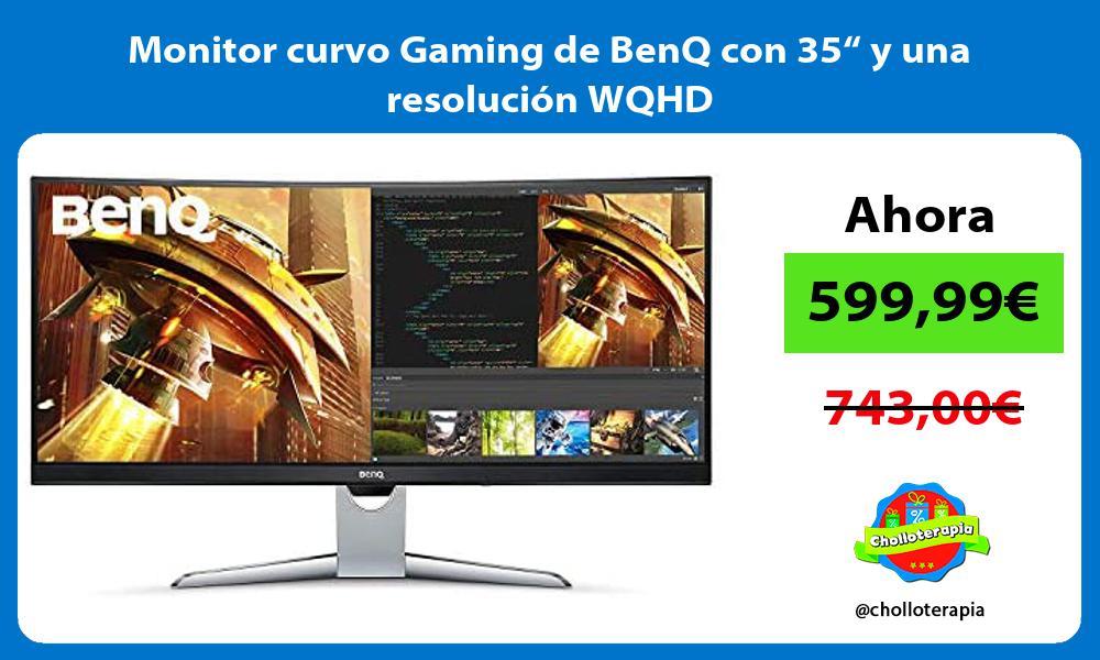 """Monitor curvo Gaming de BenQ con 35"""" y una resolución WQHD"""