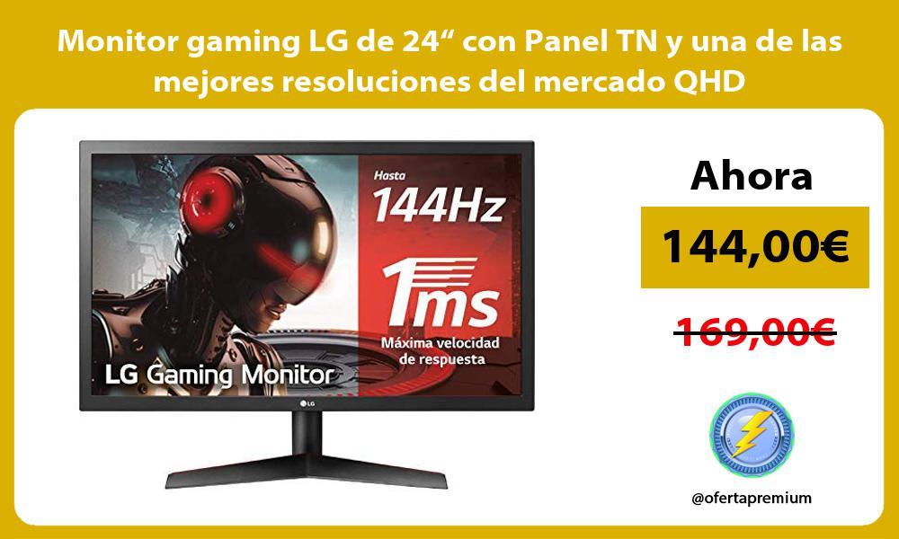 """Monitor gaming LG de 24"""" con Panel TN y una de las mejores resoluciones del mercado QHD"""