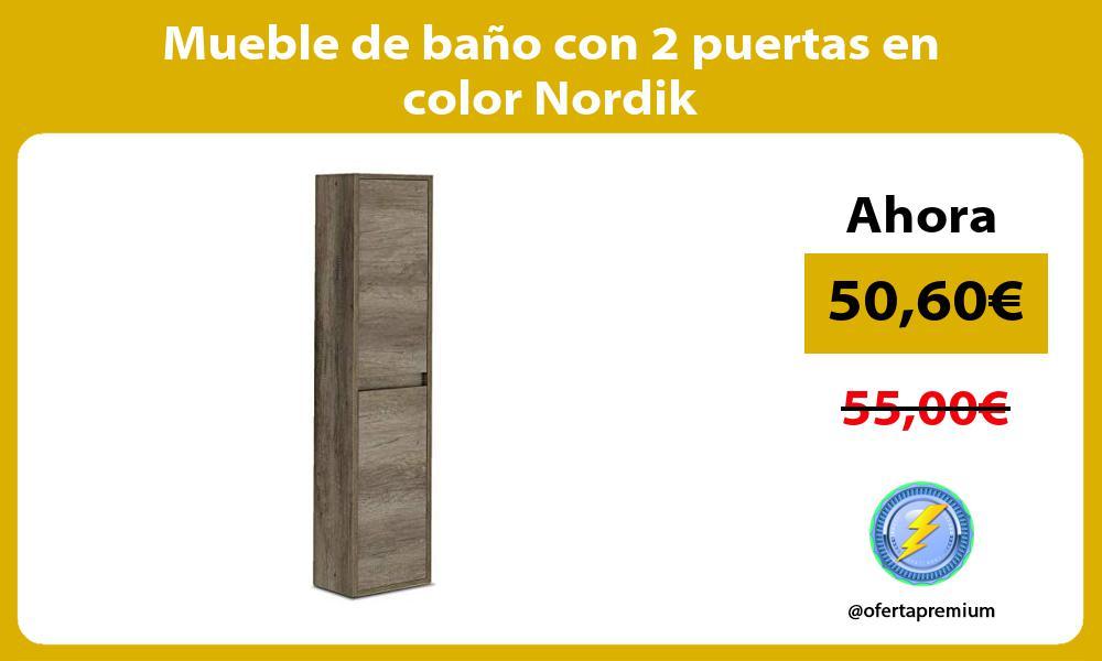 Mueble de baño con 2 puertas en color Nordik